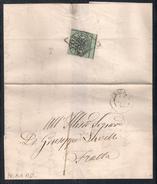 DA PERUGIA A FRATTA - 11.6.1858. - Papal States