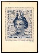 "Francia/France: Intero, Stationery, Entier, ""Parigi 1937"""