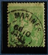 Sage N°102.Type IIl Ob.(CAD ) MARINES ( Val D'Oise ) 10 Janv 1902.( N Sous B )