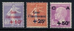 N°249/251, Caisse D'Amortissement 1928, Complet, Neuf ** Sans Charnière TB