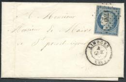 N°4, Oblitéré PC 1730 LIMOGES (Haute-Vienne) 1852 Lettre Arrivée NEXON - TB