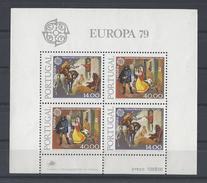 PORTUGAL. YT Bloc 27 Neuf ** Europa. Histoire De La Poste 1979