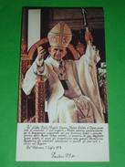 Benedizione Apostolica 1978 Papa PAOLO VI Montini,Concesio/50°MESSA'79 Orzivecchi,Rovato,Verolavecchia,Manerbio,Brescia - Santini