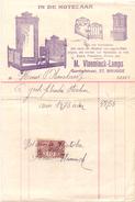 Factuur Facture - Meubels - In De Notelaar - Vlaeminck - Lamps - Brugge 1924 - Belgio