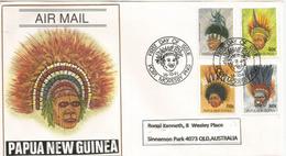 PAPOUASIE. Coiffures De Cérémonies De Danses Papous,  Belle Lettre Adressée En Australie
