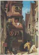 Der Briefbote Im Rosenthal. Mailman. Painting. Carl Spitzweg. Germany.    # 05684 - Postal Services