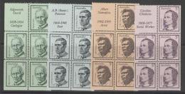 AUSTRALIA SG432a/5a 1968 FAMOUS AUSTRALIANS BOOKLET PANES MNH