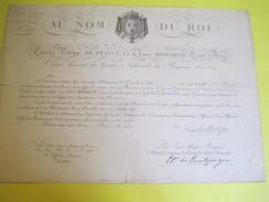 Brevet /Autographe/Charles Philippe De France,Comte D'Artois/Épernay Marne/Nomination/Hilaire/Chef Bataillon/1817 DIP208 - Diplomi E Pagelle