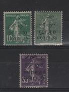 Grand-Liban _ 3 Semeuses Surcharge Renversée N°24b,26b,45b (1924 )