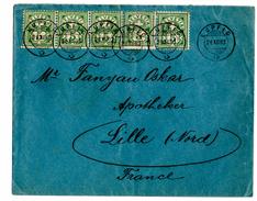 Lettre De Lupfig (28.12.1903) Pour Lille_Bande De 5 - Suisse