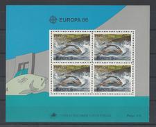 PORTUGAL. YT Bloc 51 Neuf ** Europa. Protection De La Nature Et De L'environnement 1986