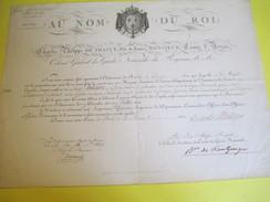 Brevet /Autographe/Charles Philippe De France,Comte D'Artois/Épernay Marne/Nomination/Hilaire/Lt Colonel/1818     DIP209 - Diplomi E Pagelle