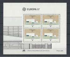 PORTUGAL. YT Bloc 55 Neuf ** Europa. Architecture Moderne 1987