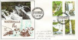 PAPOUASIE. Grandes Chûtes D'eau Des Rivières De Papouasie., Belle Lettre Adressée En Australie