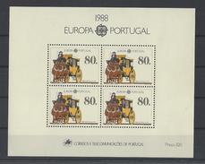 PORTUGAL. YT Bloc 58 Neuf ** Europa. Transport Et Communication 1988