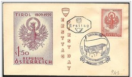 Austria/Autriche: FDC, Bandiera, Flag, Drapeau, Aquila Araldica, Heraldic Eagle, Aigle Héraldique - Buste