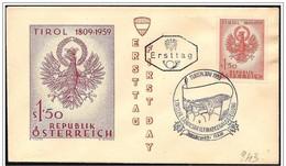 Austria/Autriche: FDC, Bandiera, Flag, Drapeau, Aquila Araldica, Heraldic Eagle, Aigle Héraldique