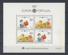 PORTUGAL. YT Bloc 65 Neuf ** Europa. Jeux D'enfants 1989
