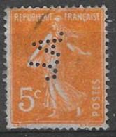France 1920 - N° YT 158 , Perforé JA, Oblitéré