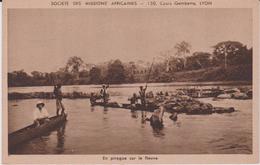 LB 7 :  Afrique : Mission  Lyon : En Pirogue  Sur  Le  Fleuve - Dahomey