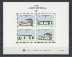 PORTUGAL. YT Bloc 72 Neuf ** Europa. Bâtiments Postaux D'hier Et D'aujourd'hui 1990