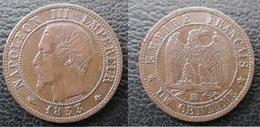 Rare 1 Centime 1853 BB Napoléon - A. 1 Centime
