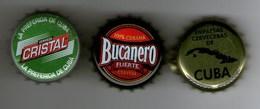 Tappi A Corona Birra Cuba, Bucanero, Cristal - Andere Verzamelingen