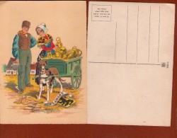 1 Cp Flandre   - Illustrateur - Maudy - 1945 -  Attelage De Chien - Altre Illustrazioni
