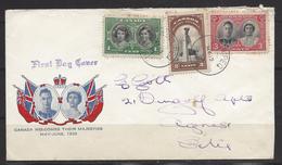 Canada Pour La France Avec Obliération Premier Jour - 1911-1935 Reign Of George V