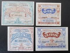 4 Billets Chambre De Commerce D'Orléans Et De Blois - Chamber Of Commerce