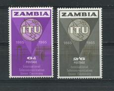 ZAMBIA    1965    I T U  Centenary    Set  Of  2    MH