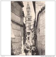 TLDTPA2749CPA-LFT7099TABU.Tarjeta Postal DE TOLEDO.Arquitectura,animales,BURRO ,CATEDRAL Y CALLEJON  EN TOLEDO - Burros