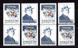 1983 SWEDEN H. BERGMAN 4x Sets MICHEL: 1249-1250 MNH **