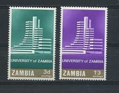 ZAMBIA    1966    Opening  Of  Zambia  University    Set  Of  2    MNH