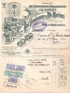 Factuur Facture - Fabrique Fabriek Constateurs - Duiven - A. Vandamme & Martens Bruxelles Brussel 1923