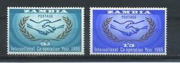 ZAMBIA    1965    International  Co-operation  Year    Set  Of  2    MH