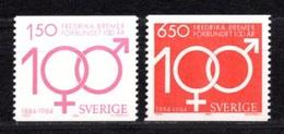 1984 SWEDEN FREDRIKA BREMER ASSOCIATION MICHEL: 1298-1299 MNH **