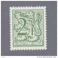 1981 Nr 2019** Postfris.Cijfer Op Heraldieke Leeuw.