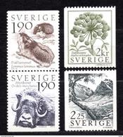 1984 SWEDEN FLORA & FAUNA MICHEL: 1272-1275 MNH **