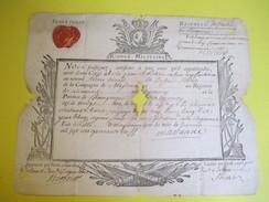 Archive/Congé Militaire/Pierre Virard Dit La Sonde/ Soldat/Cie De Massanne/Régt D'Infant. Lionnois/Lille/1741 DIP210 - Diplomi E Pagelle