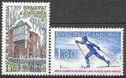 Andorre Français 1980 - Cal Pal De La Cortinada Et Jeux Olympiques D'Hiver à Lake Placid - Timbres Neufs**