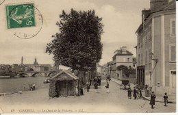 CORBEIL LE QUAI DE LA PECHERIE - Corbeil Essonnes