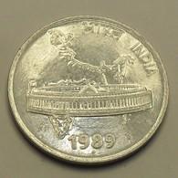1989 - Inde République - India Republic - 50 PAISE, Parlment, Mumbay Mint, KM 69 - Inde