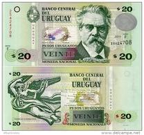 URUGUAY      20 Pesos Urug.    P-86b       2011       UNC - Uruguay