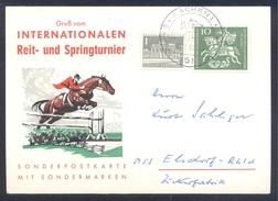 Germany Deutschland 1962 Card: Cavallo Horse Pferd Cheval: Equestrian; International Reit Und Springturnier Aachen