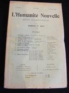 Revue Juillet 1898 L' Humanité Nouvelle N° 12-13 Revue Internationale Littéraire Politique Tendance Anarchiste -- GAR - Livres, BD, Revues