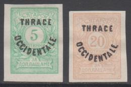 THRACE 1920 2 TP Taxe De Bulgarie Surchargés N° 4 Et 6 Y&T Neuf * Charnière - Thrace