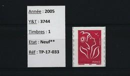 France - 2005 - N° 3744 - Neuf** - Marianne De Lamouche - Autoadhésif 49