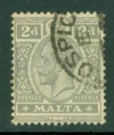 Malta: 1914/21   KGV   SG75    2d   Grey       Used - Malta (...-1964)