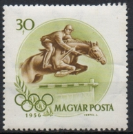 Ungheria Hungary 1956 -  Equitazione Salto Ostacoli Horse Jumping  Hurdle MNH **